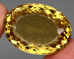 Jumbo Clean 84.00 Ct  100%  Natural Earth Mined AAA Rich Yellow Citrine Bra