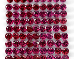 10.24 Ct 85pcs. 2.7mm Round 100% Natural Neon Purple Rhodolite Garnet Malaw