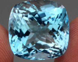 Clean 22.98 Ct 100% Natural Top Swiss Blue Topaz Brazil Explode