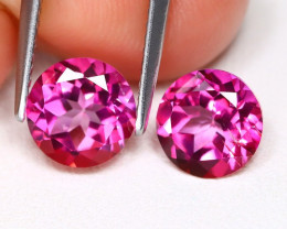 Pink Topaz 3.13Ct 2Pcs Round Cut Natural Pink Color Topaz B2371