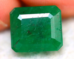 Emerald 4.36Ct Natural Zambia Green Emerald D2708/A38