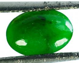 ~UNTREATED~ 1.02 Cts Natural Jade Cabochon Vivid Green Burmese