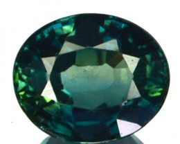 ~UNHEATED~ 1.13 Cts Natural Sapphire Greenish Blue Oval Madagascar