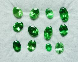 1.880 CRT 12PCS BRILLIANT GREEN TSAVORITE GARNET PARCELS-