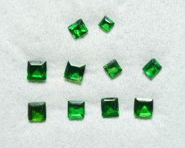 0.550  CRT 10 PCS BRILLIANT GREEN TSAVORITE GARNET PARCELS-