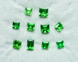 0.625 CRT 10 PCS BRILLIANT GREEN TSAVORITE GARNET PARCELS-