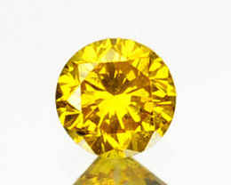 ~SPARKLING~ 0.06 Cts Natural Diamond Golden Yellow 2.60mm Round Africa
