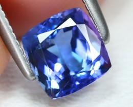 Tanzanite 1.18Ct VVS Cushion Cut Natural Purplish Blue Tanzanite B2374