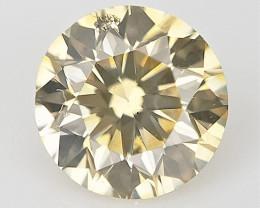 0.16 cts , Round Brilliant Cut , Light Colored Diamond