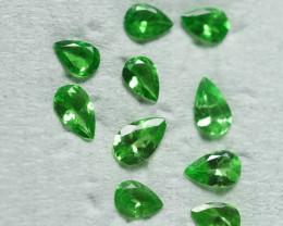 1.435 CRT 10 PCS BRILLIANT GREEN TSAVORITE GARNET PARCELS-