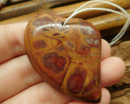Heart shape succor jasper pendant (G2429)