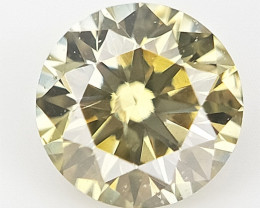 0.11 cts , Round Natural Diamond , Fancy Colored Diamond