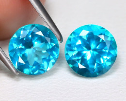 Paraiba Topaz 2.98Ct 2Pcs Round Cut Natural Paraiba Color Topaz B2438