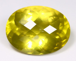 Lemon Quartz 78.66Ct VS Pixalated Cut Natural Lemon Quartz AB2423