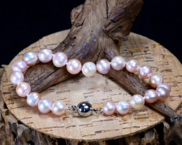 85.05Ct Natural Fresh Water Pearl Beads Bracelet B2445