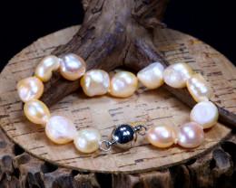 123.40Ct Natural Fresh Water Pearl Beads Bracelet B2450