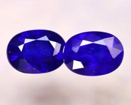 Ceylon Sapphire 2.88Ct 2Pcs Royal Blue Sapphire E2815/A23