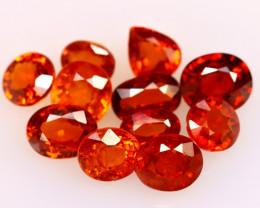 Garnet 6.60Ct 11Pcs Natural Vivid Orange Spessartite Garnet EF2824/B34
