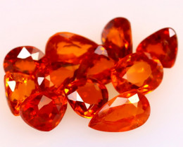 Garnet 7.70Ct 11Pcs Natural Vivid Orange Spessartite Garnet EF2825/B34