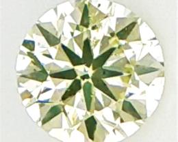 0.14 CTS , Rarest parrot Greenish Color Diamond , Rare Color Diamond