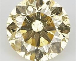 0.11 cts . Round Brilliant Cut , Light Color Diamond