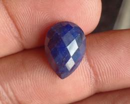 SAPPHIRE BLUE ROSE CUT GENUINE GEMSTONE VA1461