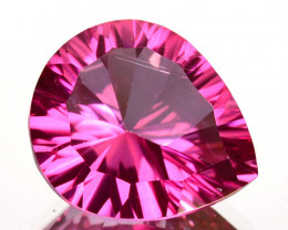 5.20Cts Pink Natural Topaz Pear 12 X 10mm Concave Cut Brazil