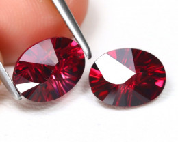 Mahenge 3.59Ct 2Pcs Oval Cut Natural Mahenge Garnet Lot B2488
