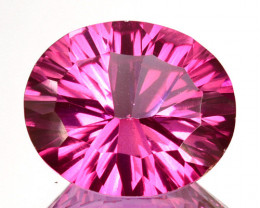 4.91Cts Pink Natural Topaz Oval 12 X 10mm Concave Cut Brazil