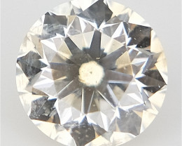 0.10 CTS , Off white Diamond , Round Brilliant cut