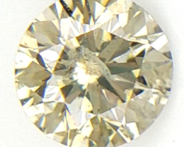 0.14 CTS ,Round Brilliant Cut Diamond , Natural Light Color