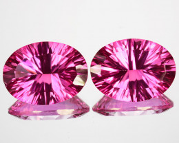 20.24 Cts Candy Pink Natural Topaz Oval Concave Cut 16 X 12mm  Brazil