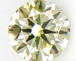 0.11 CTS , Rare color diamond , Yellow Green Overtone