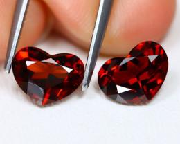 Spessartite 2.76Ct 2Pcs Heart Cut Natural Spessartite Garnet Lot AB2546