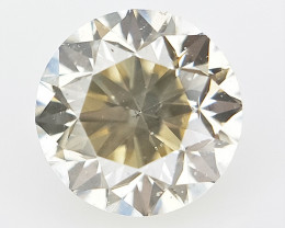 0.19 cts , Round Natural Dimaonds , Light Yellow Color Diamond