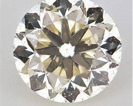 0.12 cts , Round Brilliant Cut Diamond , Light Colored Diamond
