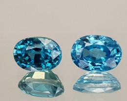 3.12Crt Blue Zircon Natural Gemstones JI27