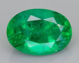 1.72 ct Zambian Emerald Vivid Green Color SKU-36