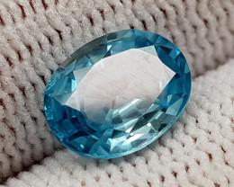 2.55CT BLUE ZIRCON BEST QUALITY GEMSTONE IIGC52