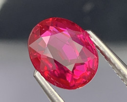 3.01 Cts GRS Fine Grade Vivid Red Natural Ruby Unheated/Untreated