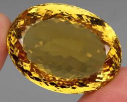 137.45 Ct. 100% Natural Top Yellow Golden Citrine Unheated Brazil Big!
