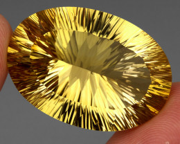 60.38 ct.  Natural Earth Mined Unheated Top Yellow Golden Citrine Brazil