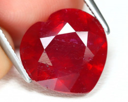 Red Ruby 6.52Ct Heart Cut Pigeon Blood Red Ruby B2687