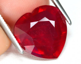 Red Ruby 6.01Ct Heart Cut Pigeon Blood Red Ruby B2689