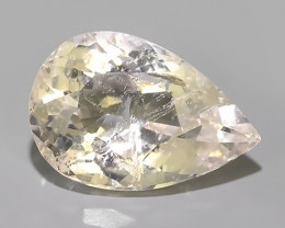 11.45 CTS EXCELLENT NATURAL LUSTER-PEACH MORGANITE PEAR GEM!!