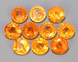 2.95 CTS MARVELOUS RARE NATURAL TOP FANTA-SPESSARITE ROUND DAZZLING !