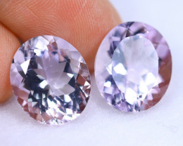 Oval Cut 14.53cts Natural VVS Purple Amethyst Pairs / KL572