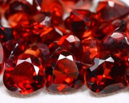 Spessartite 10.33Ct 26Pcs Heart Cut Natural Spessartite Garnet Lot AB2818