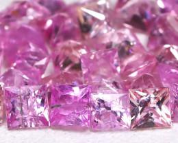 3.13Ct Princess Natural Untreated Vivid Pink Sapphire Lot AB2783