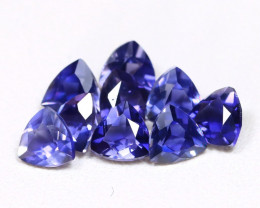 Iolite 2.01Ct Trillion Cut Natural Purplish Blue Color Iolite Lot AB2829